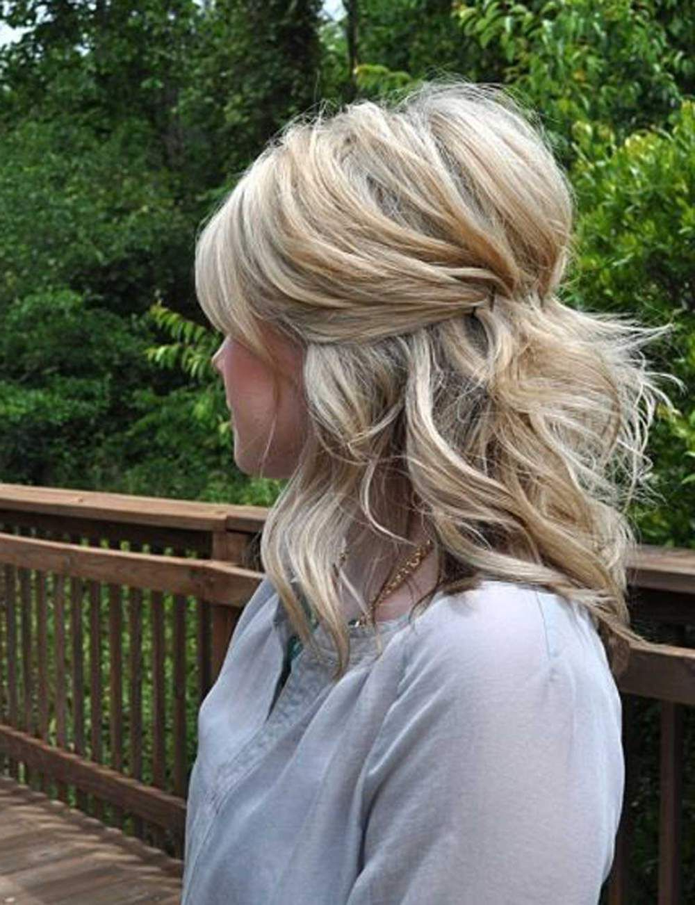 Pinterest Within Well Liked Teased Medium Hairstyles (View 4 of 20)