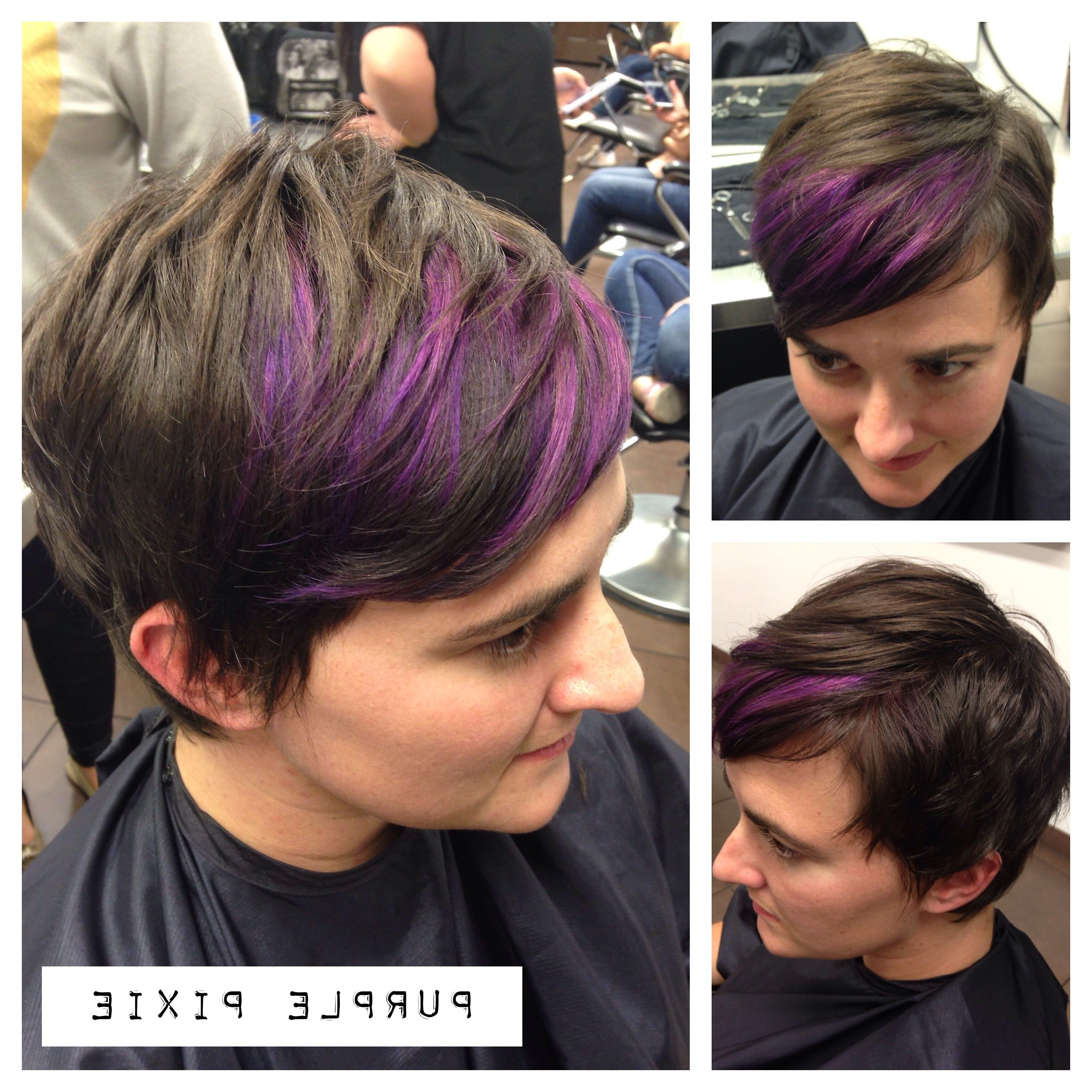 Pixie Cut Throughout Well Liked Spiky Mohawk Hairstyles With Pink Peekaboo Streaks (View 7 of 20)