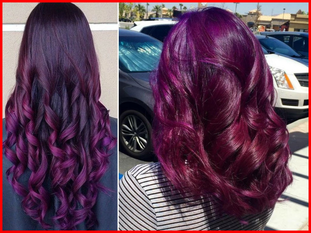 Plum Hair Color On Black Women 289072 60 Burgundy Hair Color Ideas Pertaining To Popular Burgundy Medium Hairstyles (View 13 of 20)