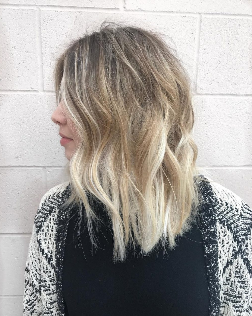 Popular Ash Blonde Bob Hairstyles With Light Long Layers In 45 Chic Choppy Bob Hairstyles For (View 16 of 20)