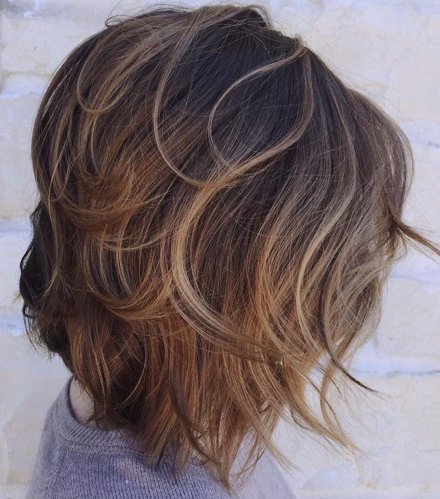 Popular Caramel Lob Hairstyles With Delicate Layers Throughout 60 Beautiful And Convenient Medium Bob Hairstyles In  (View 19 of 20)