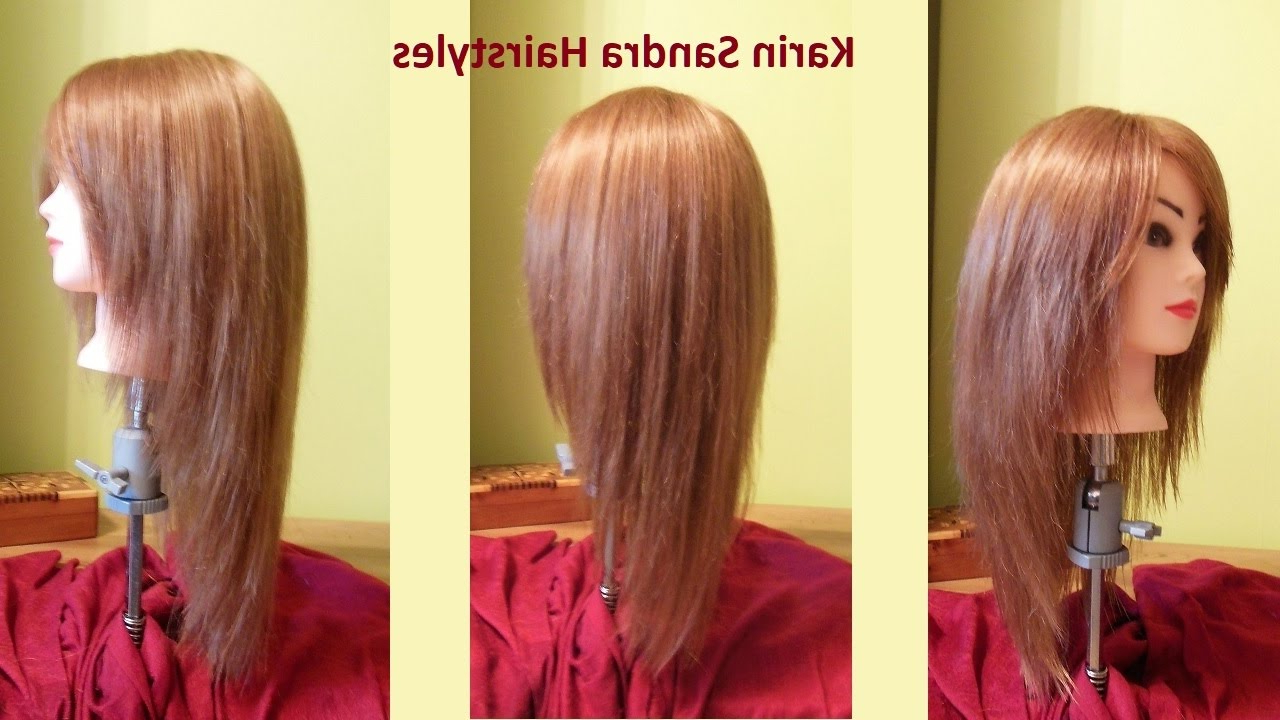 Popular Face Framing Medium Hairstyles Intended For Long Layered V Haircut Tutorial (View 16 of 20)
