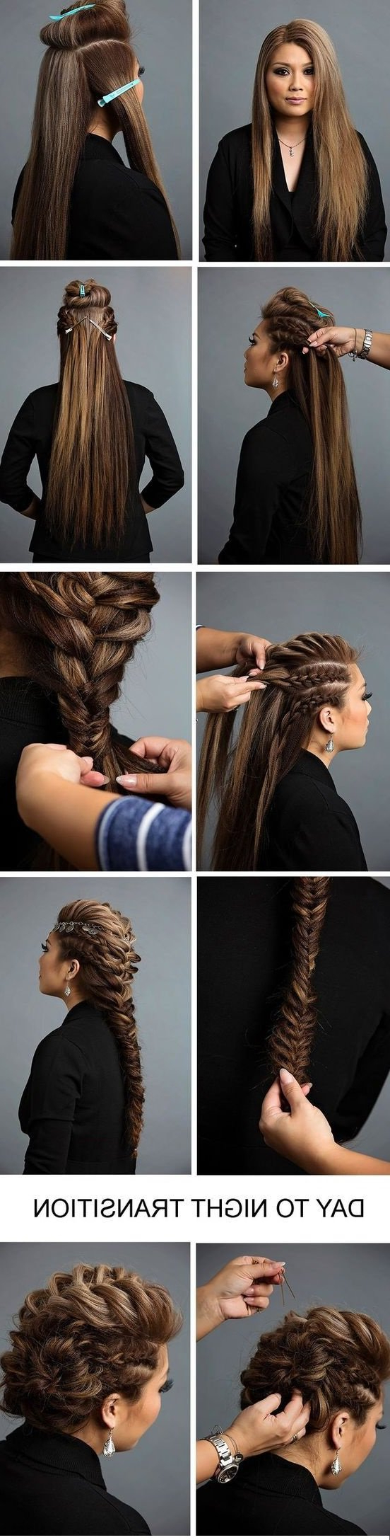 Popular French Braid Pinup Faux Hawk Hairstyles Pertaining To 17 Fabulous Faux Hawk Hairstyle Tutorials (View 10 of 20)