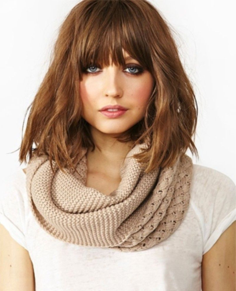 Popular Fringe Medium Hairstyles Pertaining To Medium Hairstyles With Bangs For Haircut (View 17 of 20)