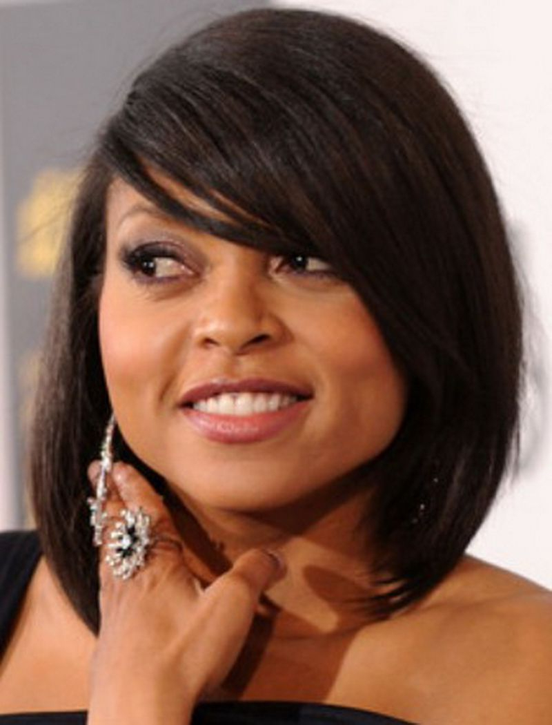 Popular Medium Haircuts For African American Women With Round Faces Inside Bob Haircuts For Black Women (View 16 of 20)