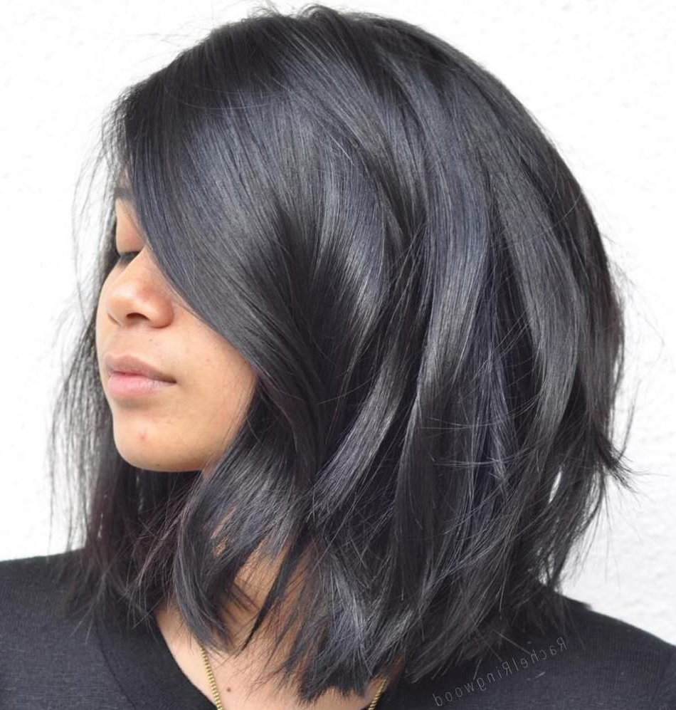 Popular Medium Haircuts For Black Intended For 80 Sensational Medium Length Haircuts For Thick Hair In (View 15 of 20)