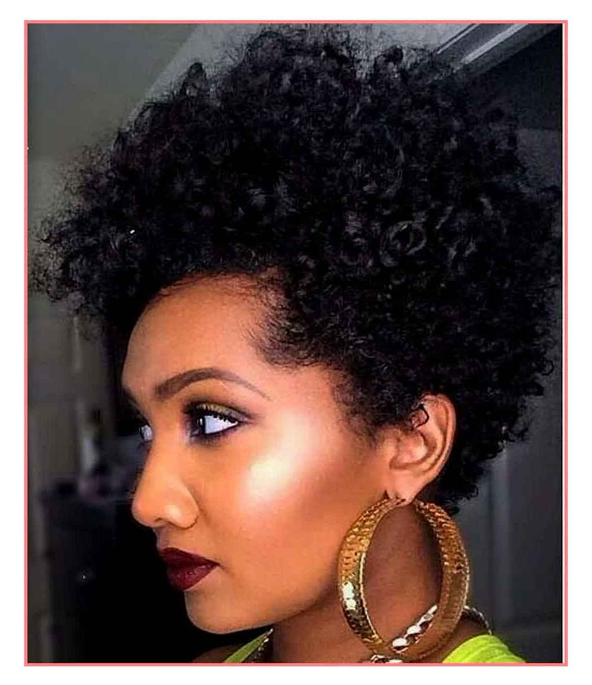 Popular Medium Haircuts For Naturally Curly Black Hair Within Hair Cuts : Best Short Natural Curly Hairstyles For Black Women (View 9 of 20)