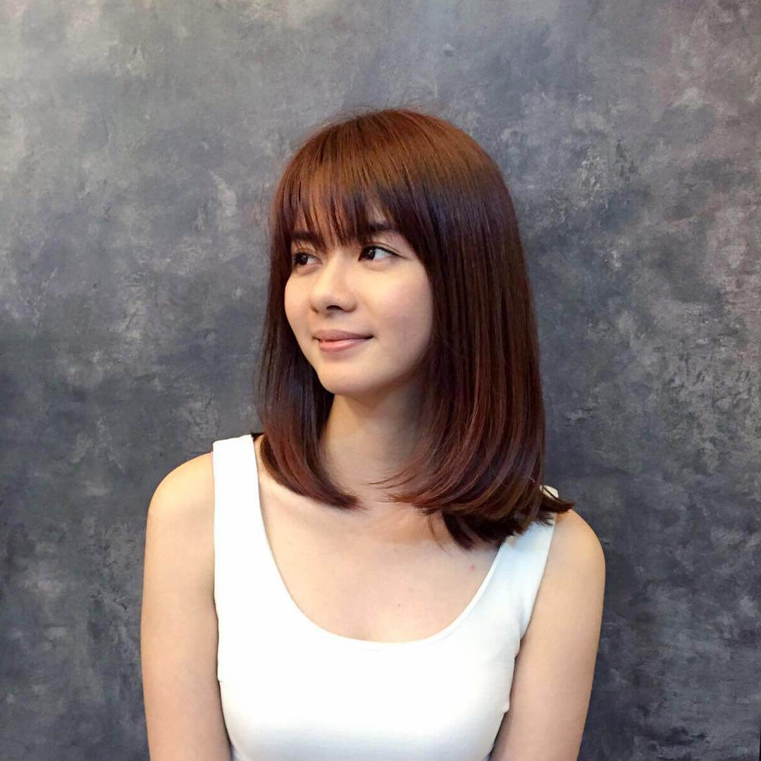 Popular Medium Haircuts With Fringes Throughout 25 Most Beautiful Bob Haircuts With Fringe – Haircuts & Hairstyles  (View 17 of 20)
