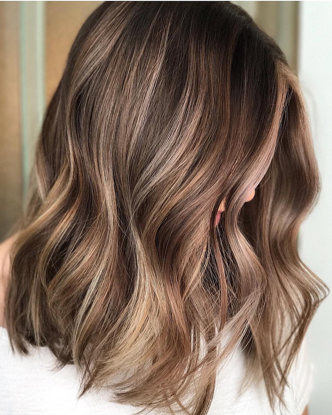 Popular Medium Hairstyles And Highlights Throughout 10 Trendy Brown Balayage Hairstyles For Medium Length Hair (View 13 of 20)