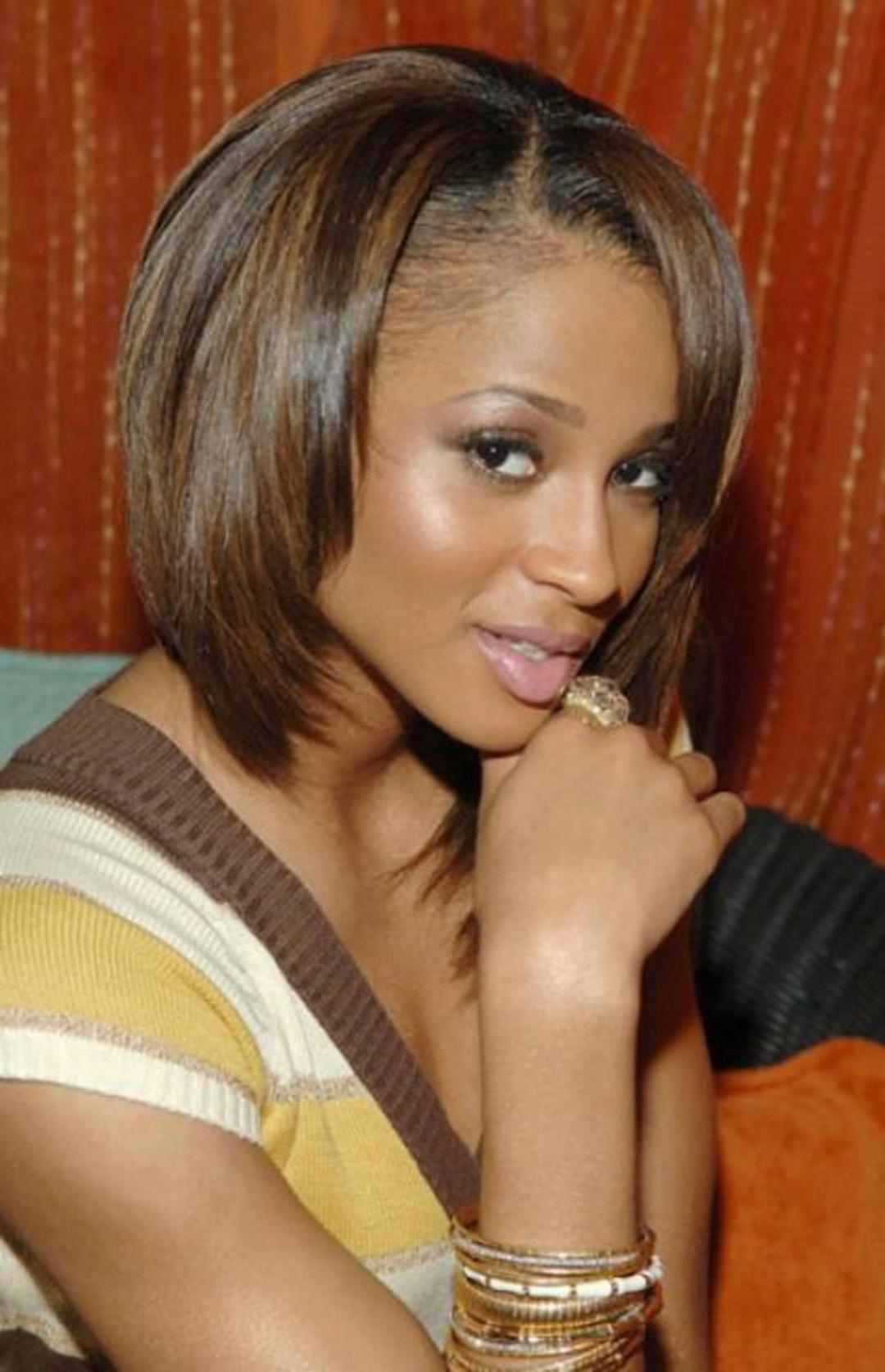 Popular Medium Hairstyles For African American Women Regarding Shoulder Length Bob Hairstyles For Black Women Medium Length Bob (View 9 of 20)