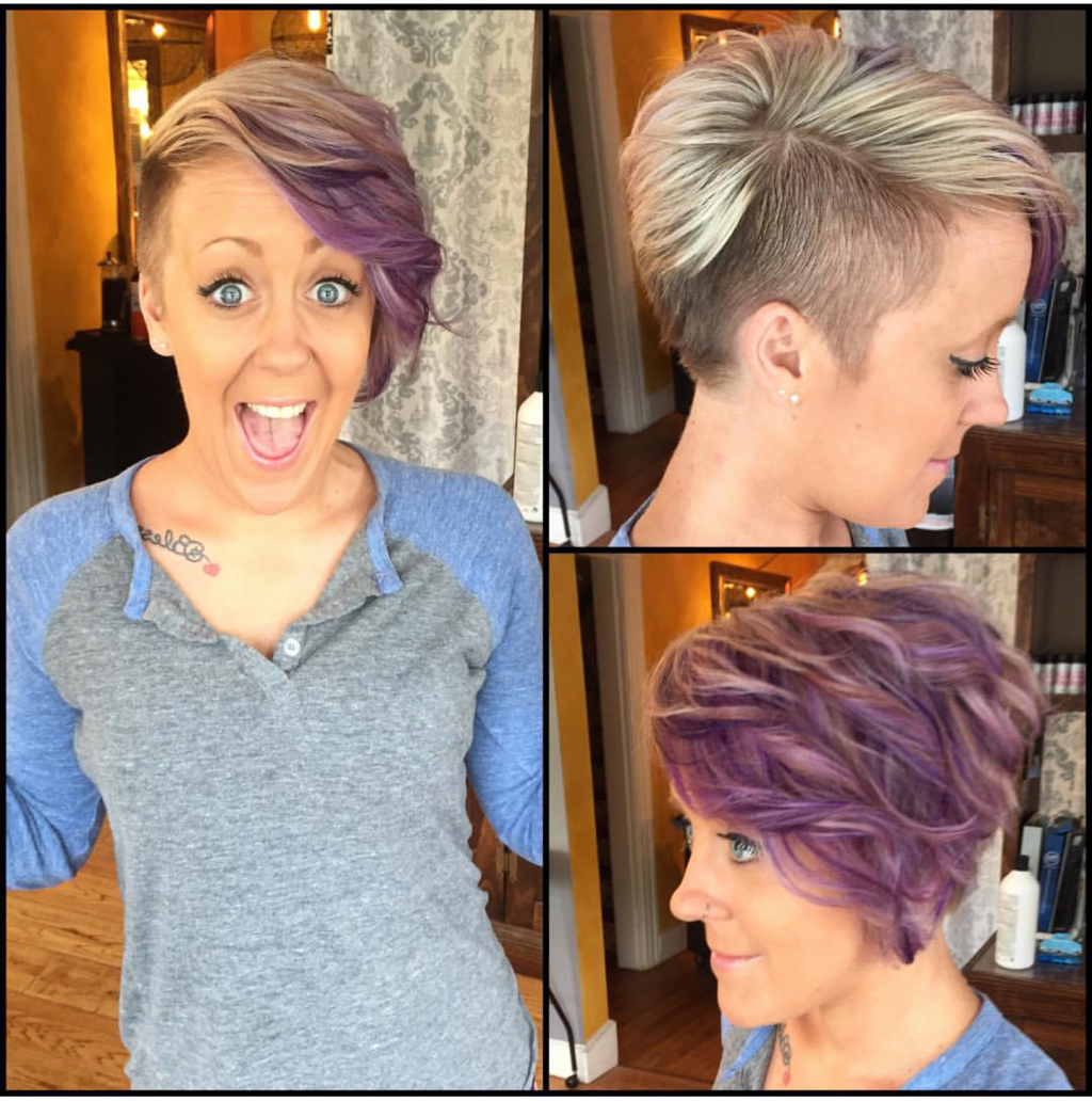 Popular Medium Hairstyles Shaved Side Throughout √ 24+ Wonderful Short Shaved Sides Hairstyles: Shaved Side Bob (View 17 of 20)