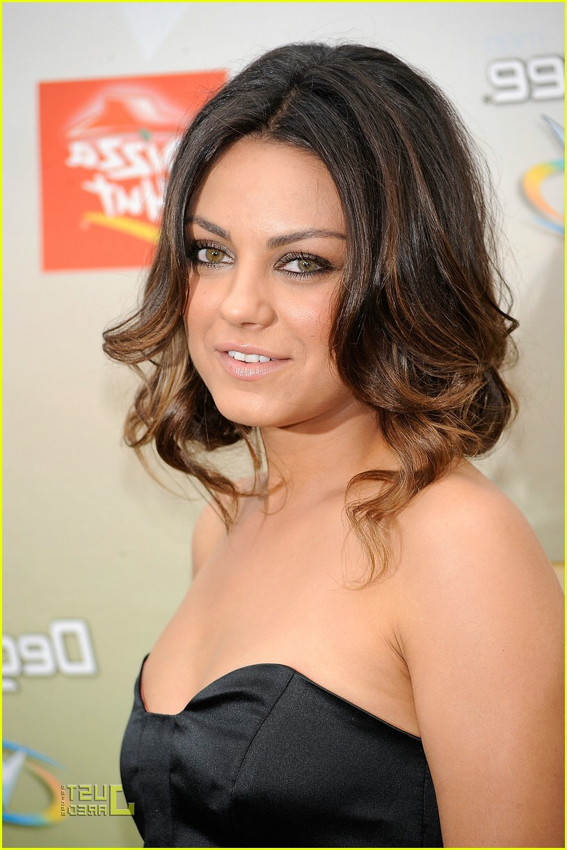 Popular Mila Kunis Medium Hairstyles Within Mila Kunis Is Every Guy's Choice: Photo (View 17 of 20)