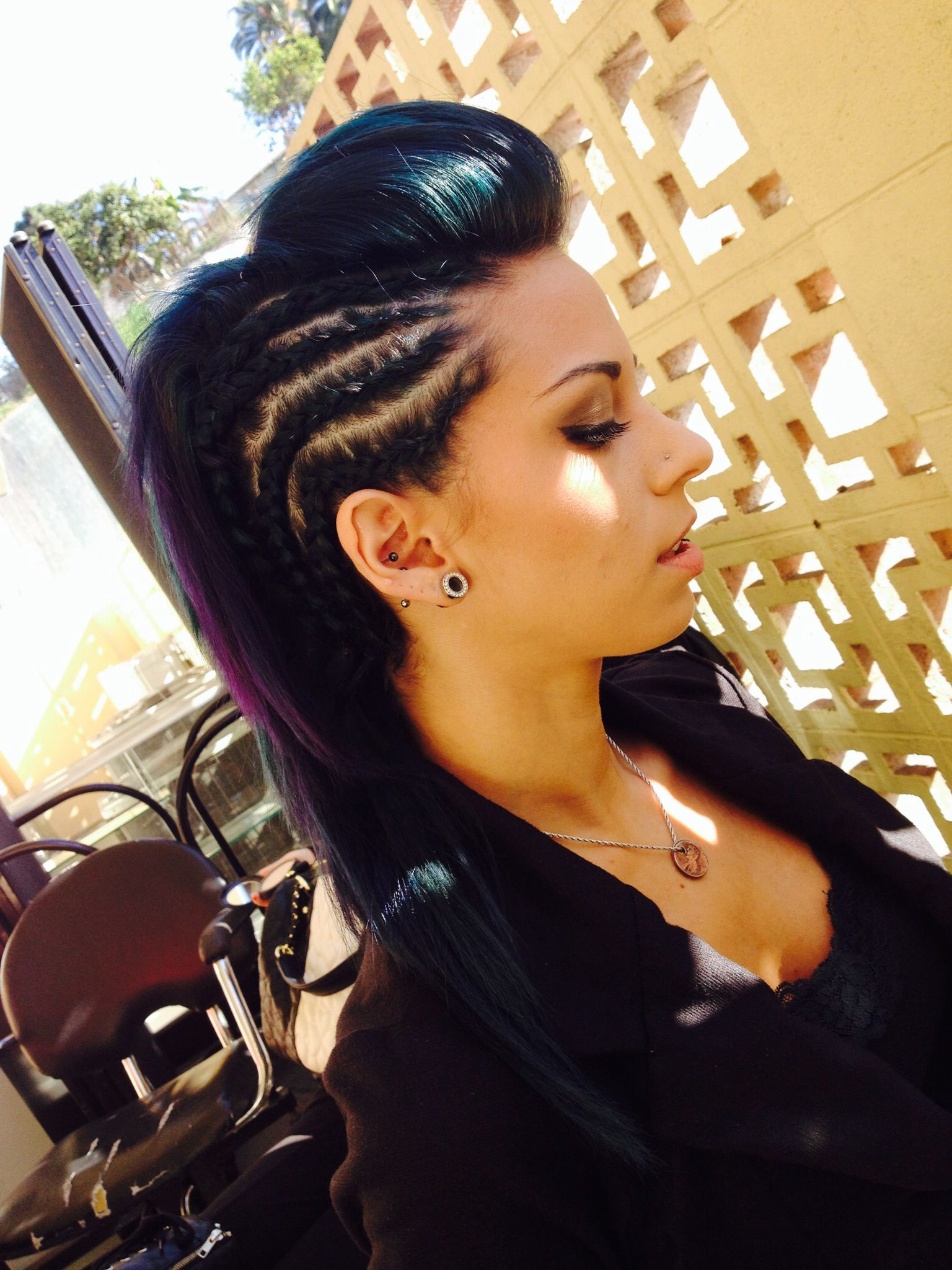 Popular Mohawk Hairstyles With An Undershave For Girls In Braided Mohawk (View 4 of 20)