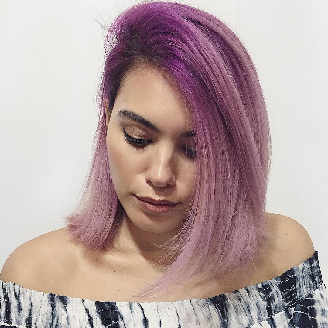 [%Popular Purple Medium Hairstyles In 30 Edgy Medium Length Haircuts For Thick Hair [October, 2018]|30 Edgy Medium Length Haircuts For Thick Hair [October, 2018] Inside Latest Purple Medium Hairstyles%] (View 2 of 20)