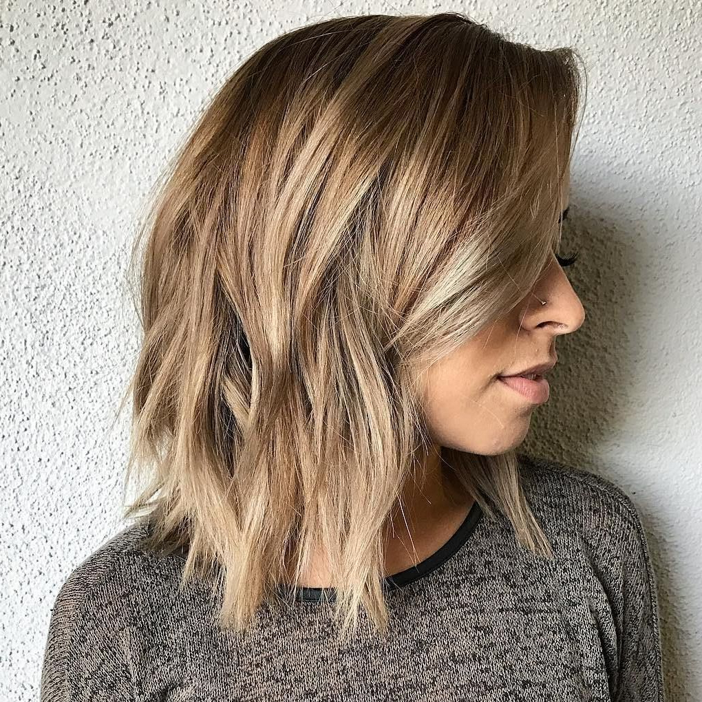 Popular Shoulder Length Haircuts With Jagged Ends Within 80 Sensational Medium Length Haircuts For Thick Hair In (View 13 of 20)
