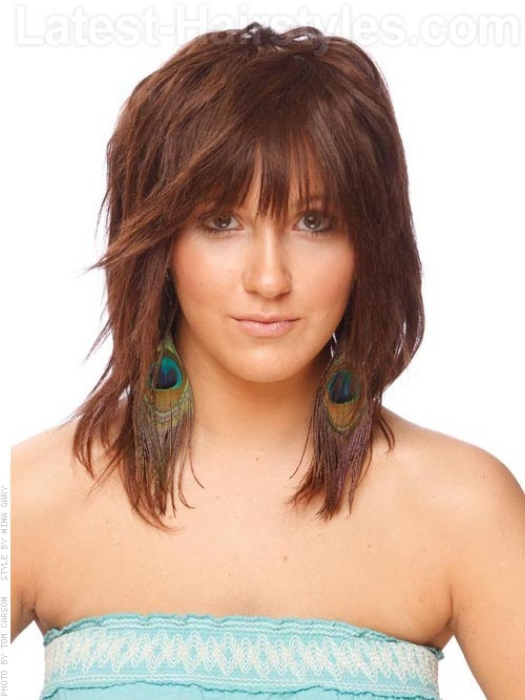 Popular Summer Medium Hairstyles Intended For Choppy Medium Length Hairstyles (View 13 of 20)