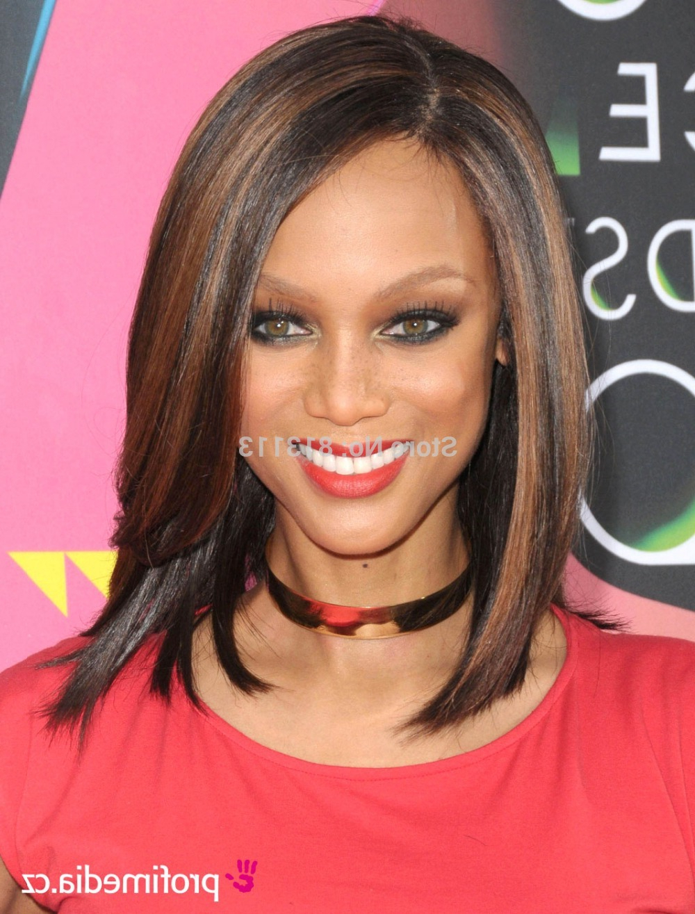 Popular Tyra Banks Medium Hairstyles In Tyra Banks Bob Hair Lace Front Wigs Peruvian Hair With Highlights (View 11 of 20)