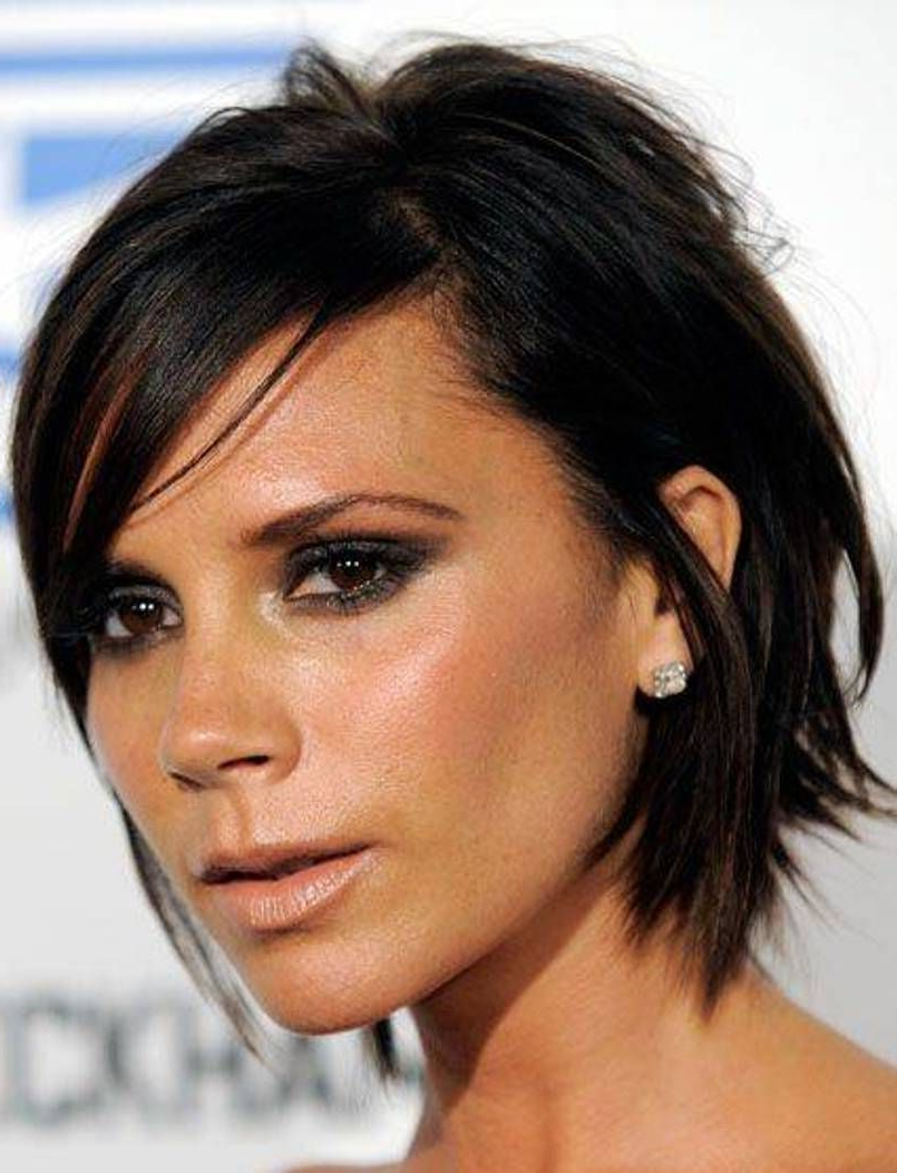 Popular Victoria Beckham Medium Haircuts With Regard To Choppy Layered Celebrity Victoria Beckham Haircuts (View 13 of 20)