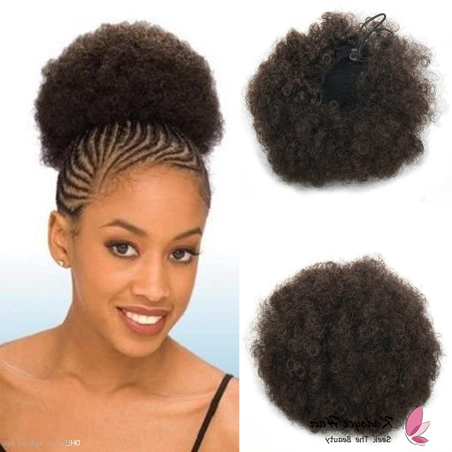 Preferred Afro Medium Hairstyles In Jumbo Kinky Curly Afro Puff Magic Afro Pony Tail Medium Size Kinky (View 17 of 20)