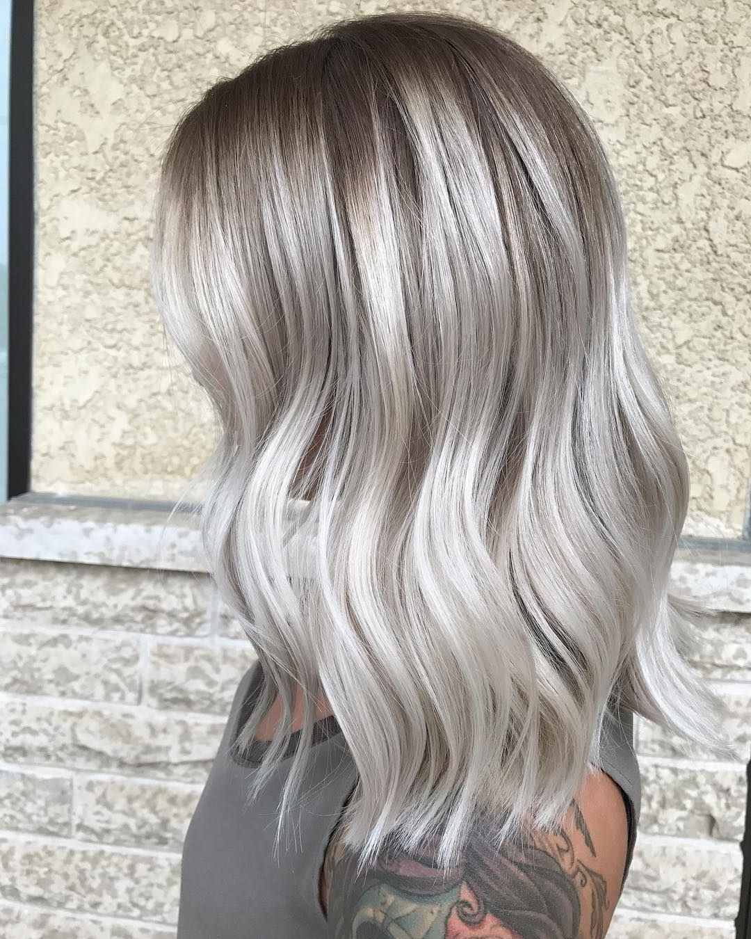 Preferred Ash Blonde Bob Hairstyles With Light Long Layers Pertaining To Hair Cuts : Brown To Ash Blonde Ombre Short Hair Dark With (View 17 of 20)