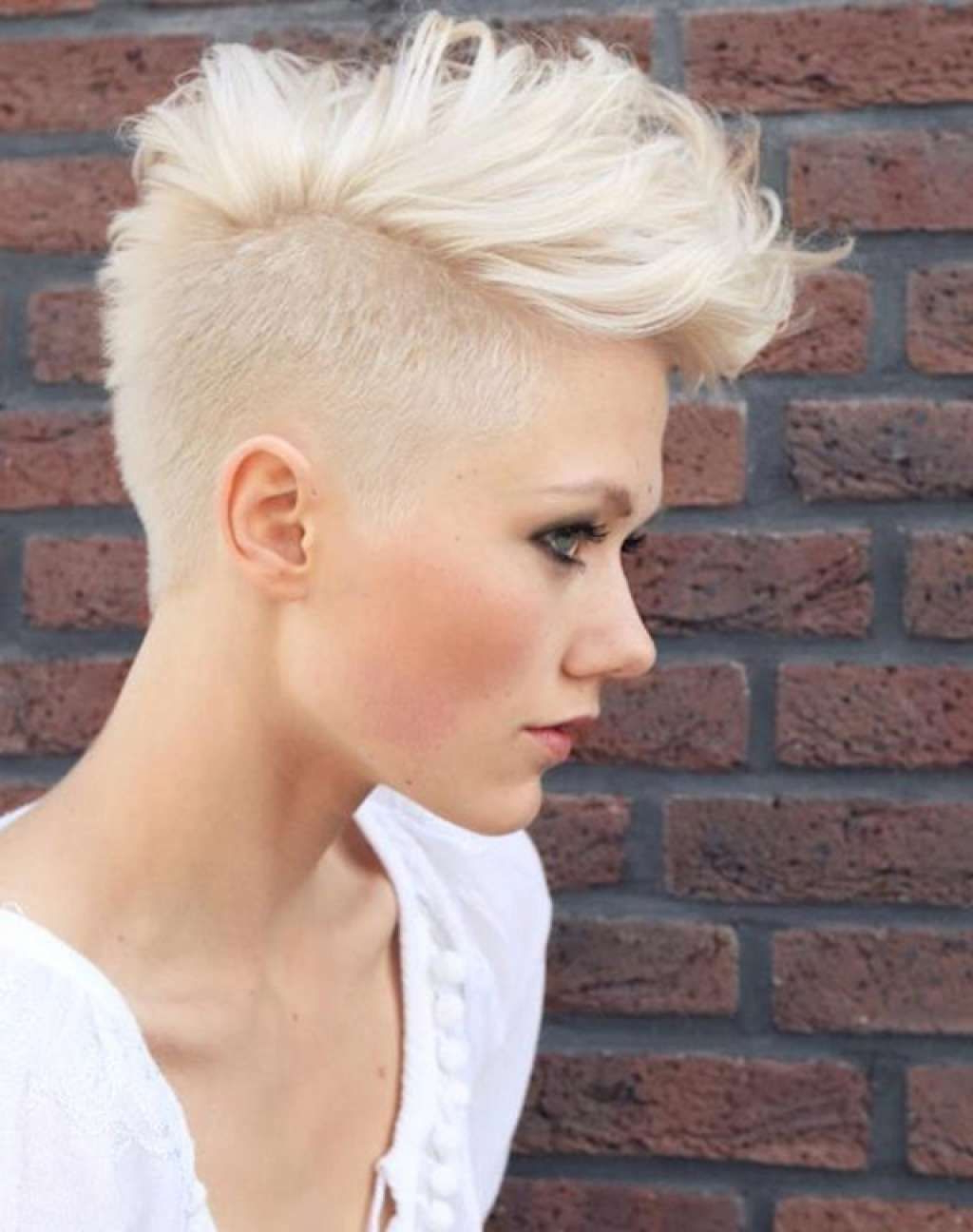 Preferred Bleached Feminine Mohawk Hairstyles With Buzz Cut Female Hairstyle With Long Top :: One1lady :: #hair (View 2 of 20)