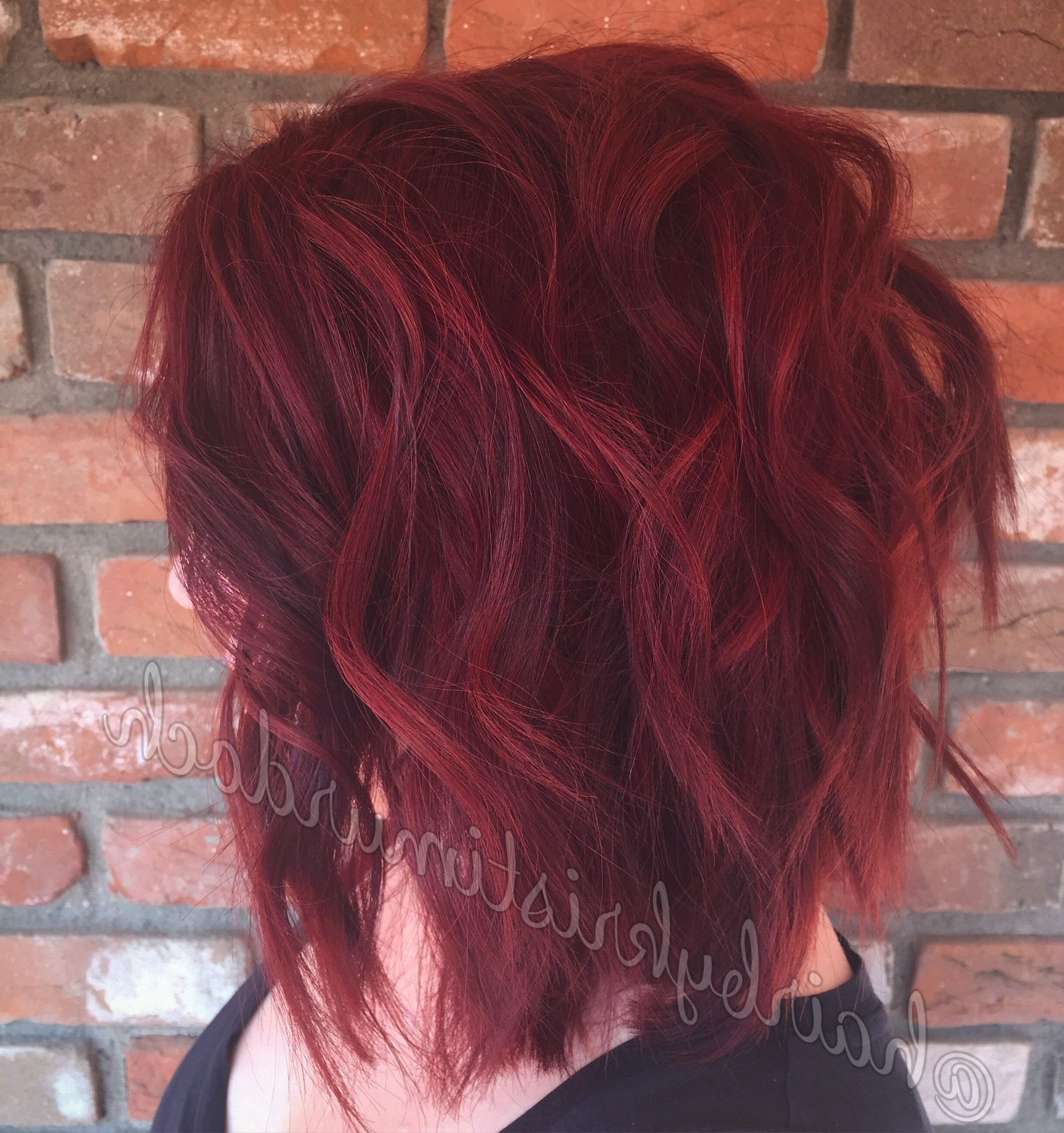 Preferred Bright Red Medium Hairstyles Within Red Hair, Ruby Red Hair, Bright Red Hair, Red Velvet Hair Color (View 17 of 20)