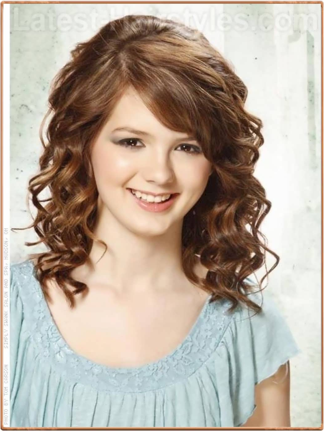 Preferred Curly Medium Hairstyles With Bangs For Hairstyles For Medium Length Curly Hair With Bangs – Hairstyle For (View 15 of 20)