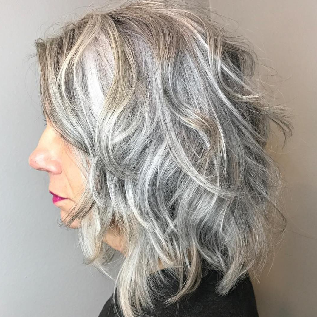 Preferred Gray Hair Medium Hairstyles Intended For 60 Best Hairstyles And Haircuts For Women Over 60 To Suit Any Taste (View 18 of 20)