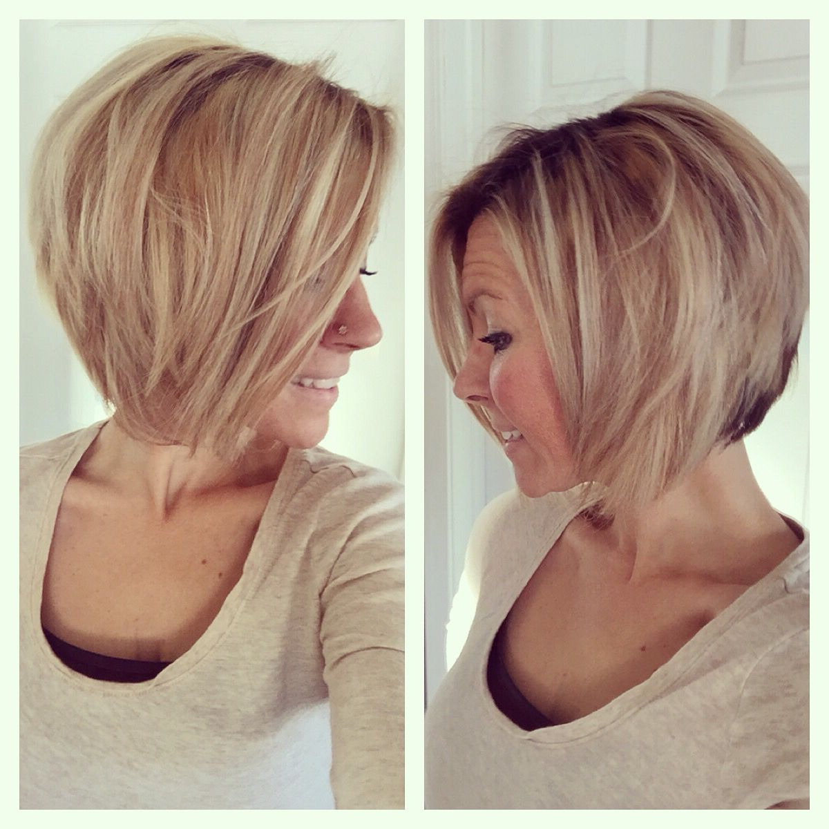 Preferred Inverted Medium Haircuts Regarding Short Medium Angled Bob Haircut. Reverse Bob (View 16 of 20)
