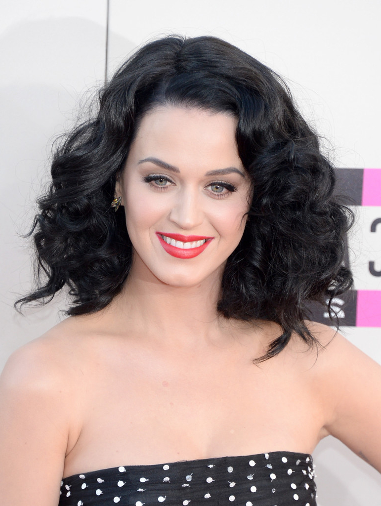 Preferred Katy Perry Medium Hairstyles In More Pics Of Katy Perry Medium Curls (7 Of 18) – Shoulder Length (View 13 of 20)