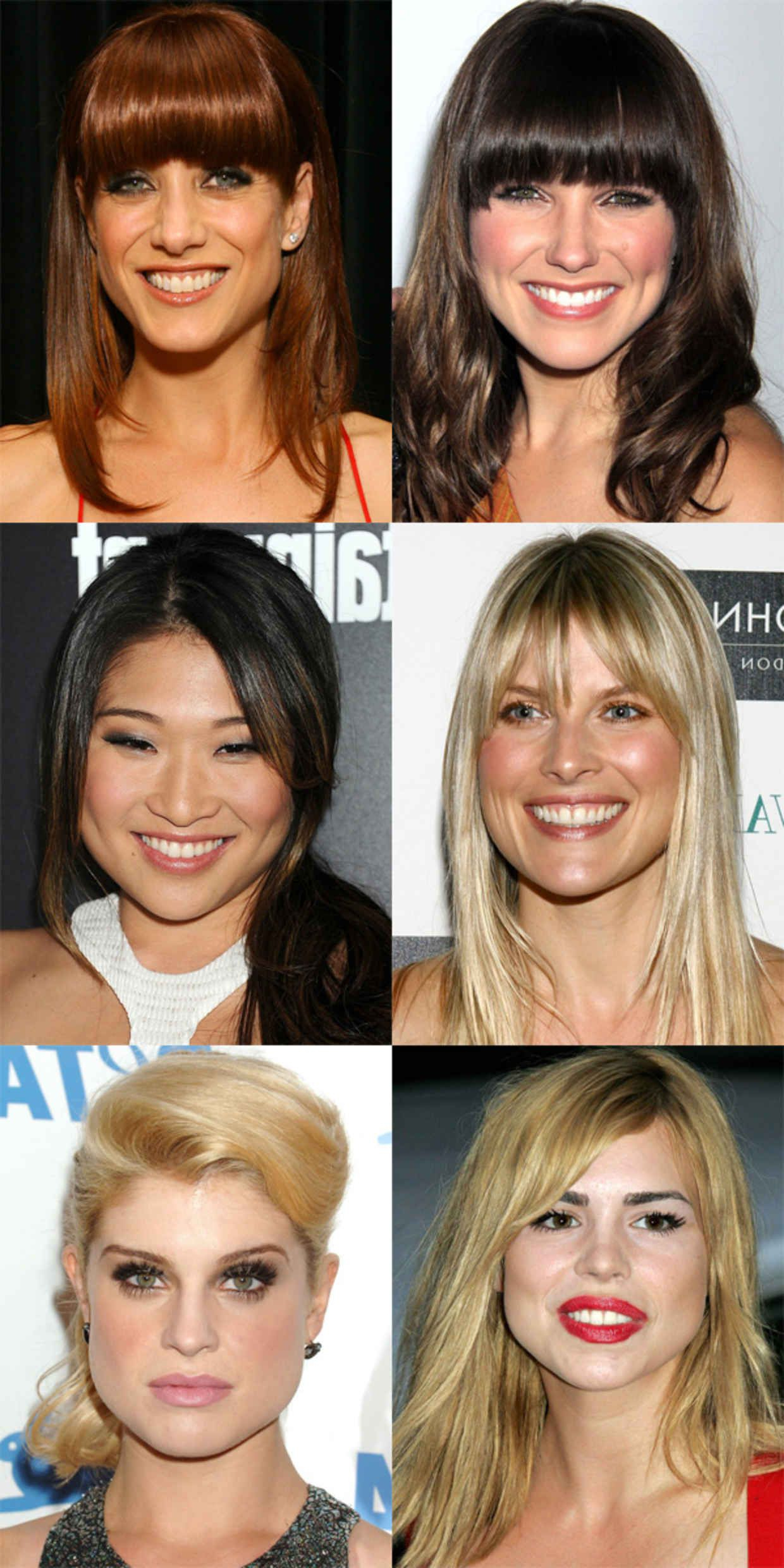 Preferred Medium Hairstyles For Pear Shaped Faces For The Best (And Worst) Bangs For Pear Shaped Faces (View 11 of 20)