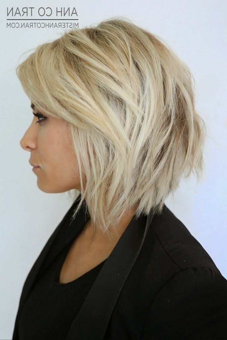 Preferred Medium Hairstyles With Layers For Fine Hair Intended For Women Hairstyle : Bob For Fine Hair Short Over Medium With Bangs (View 19 of 20)