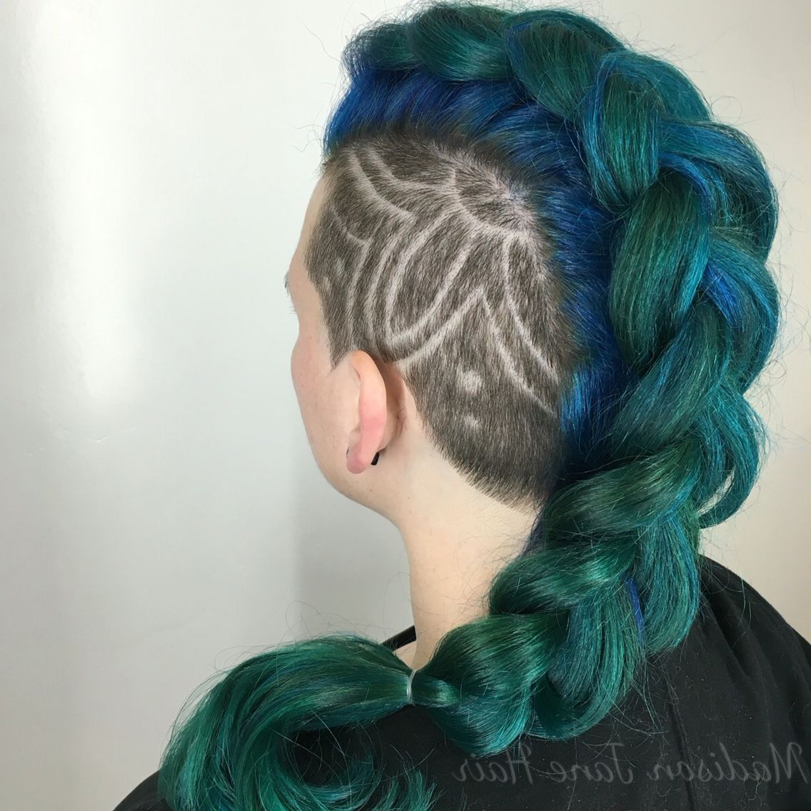 Preferred Soft Spiked Mohawk Hairstyles Throughout Mermaid Mohawk! Teal, Blue And Green Gradients (View 14 of 20)