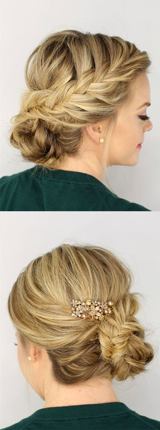 Prom Hair Pertaining To Most Recently Released Medium Hairstyles For Special Occasions (View 17 of 20)