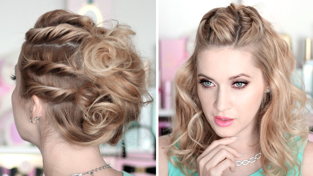 Prom/party Hairstyles ☆ Running Late Updo ☆ Medium/long Hair Within Best And Newest Medium Hairstyles For Homecoming (View 14 of 20)