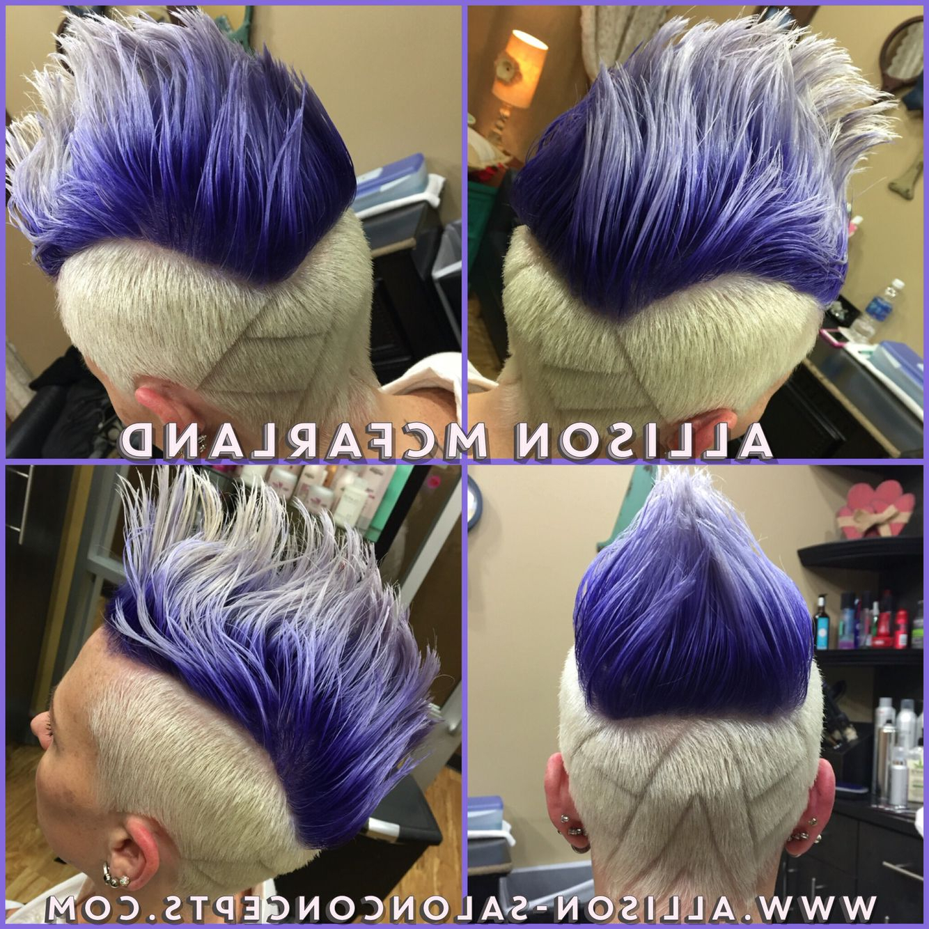 Purple Ombré Mohawk And Hair Designallison Mcfarland Salon Throughout Most Current Lavender Ombre Mohawk Hairstyles (View 16 of 20)
