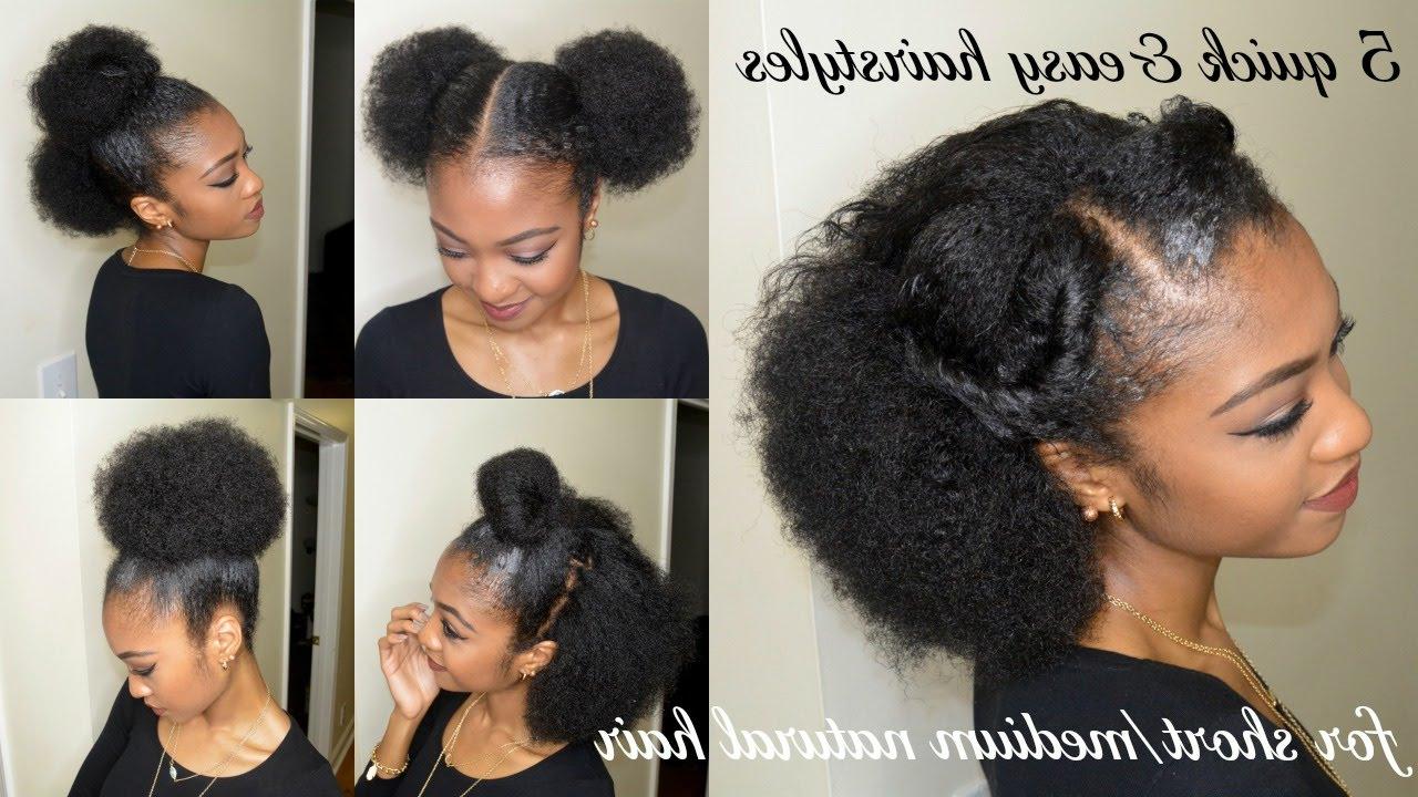 Quick Hairstyles For Short Natural Hair – Leymatson Inside Preferred Natural Medium Haircuts (View 4 of 20)