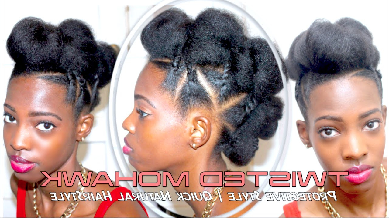 Quick Natural Hairstyle – Youtube Within Most Current Quick And Easy Mohawk Hairstyles (Gallery 5 of 20)