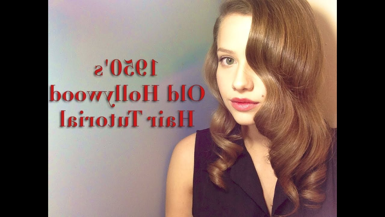 Recent 1950 Medium Hairstyles Regarding 1950S/old Hollywood Inspired Hairstyle – Youtube (View 17 of 20)