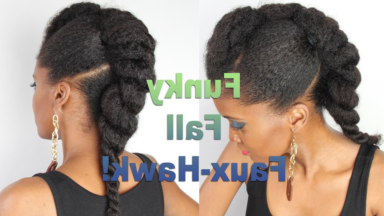 Recent Braids And Twists Fauxhawk Hairstyles For 406 Whoissugar Jumbo Flat Twist Faux Hawk + Giveaway! (closed) – Youtube (Gallery 19 of 20)