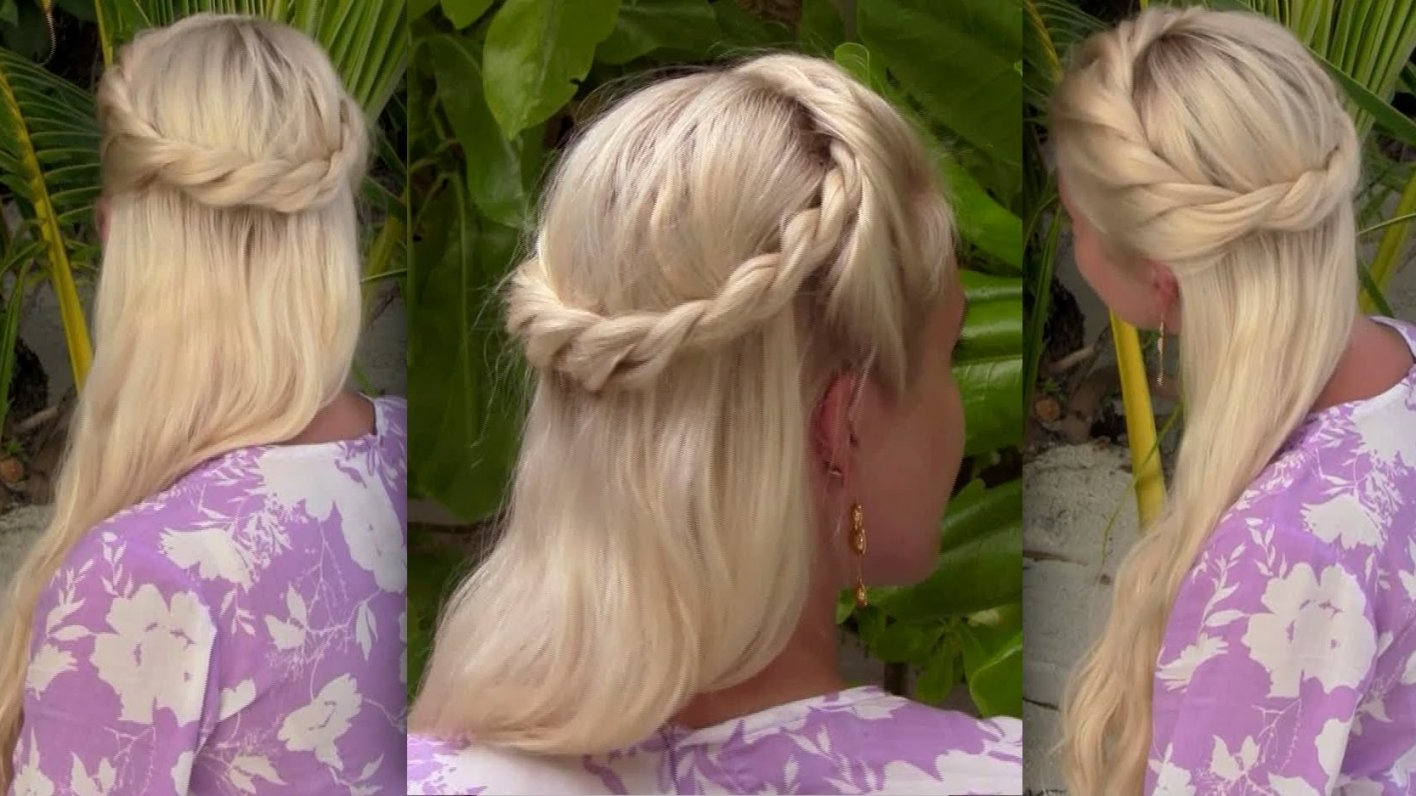 Recent Half Long Half Medium Haircuts Within Bohemian Half Up Half Down Hairstyle For Medium Long Hair Princess (View 14 of 20)