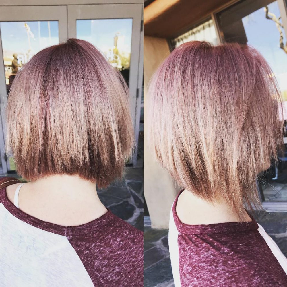 Recent Medium Angled Purple Bob Hairstyles Throughout 43 Perfect Short Hairstyles For Fine Hair In (View 16 of 20)