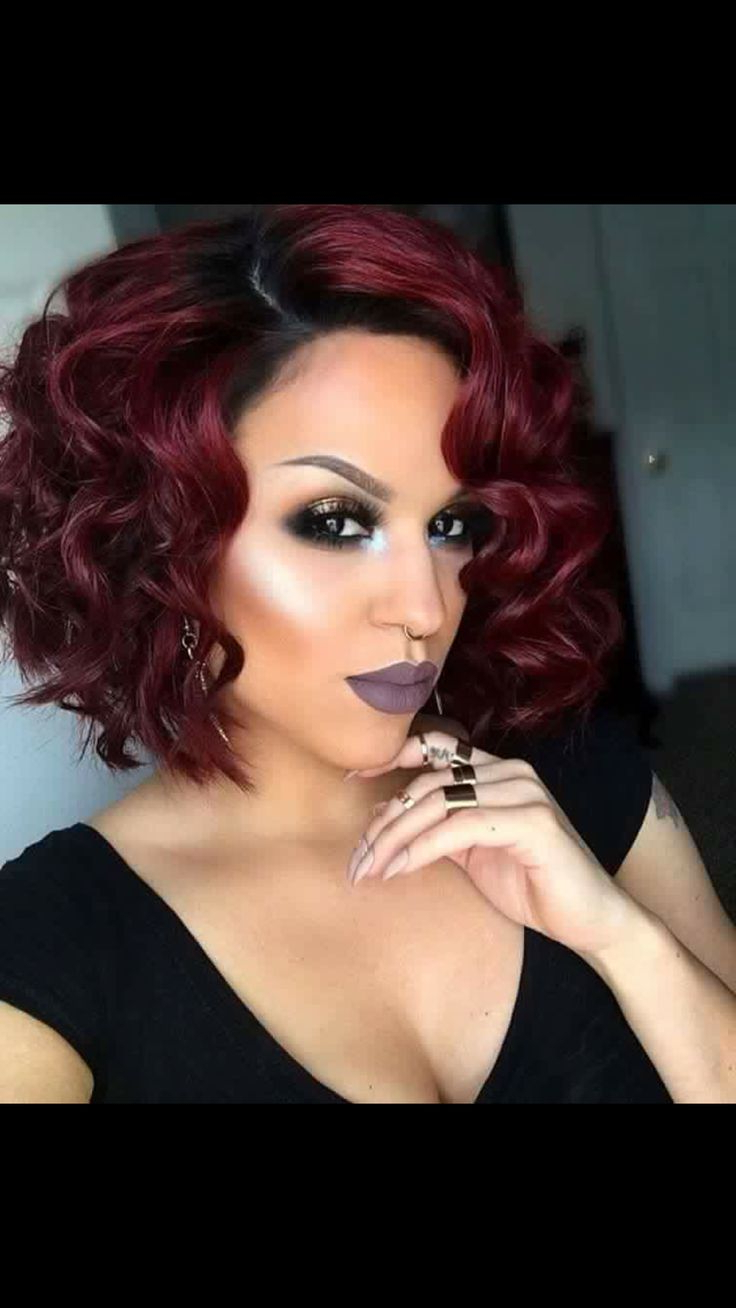 Recent Medium Hairstyles With Color For Black Women Pertaining To 24 Best Blazing Hair Color Images On Pinterest (Gallery 11 of 20)