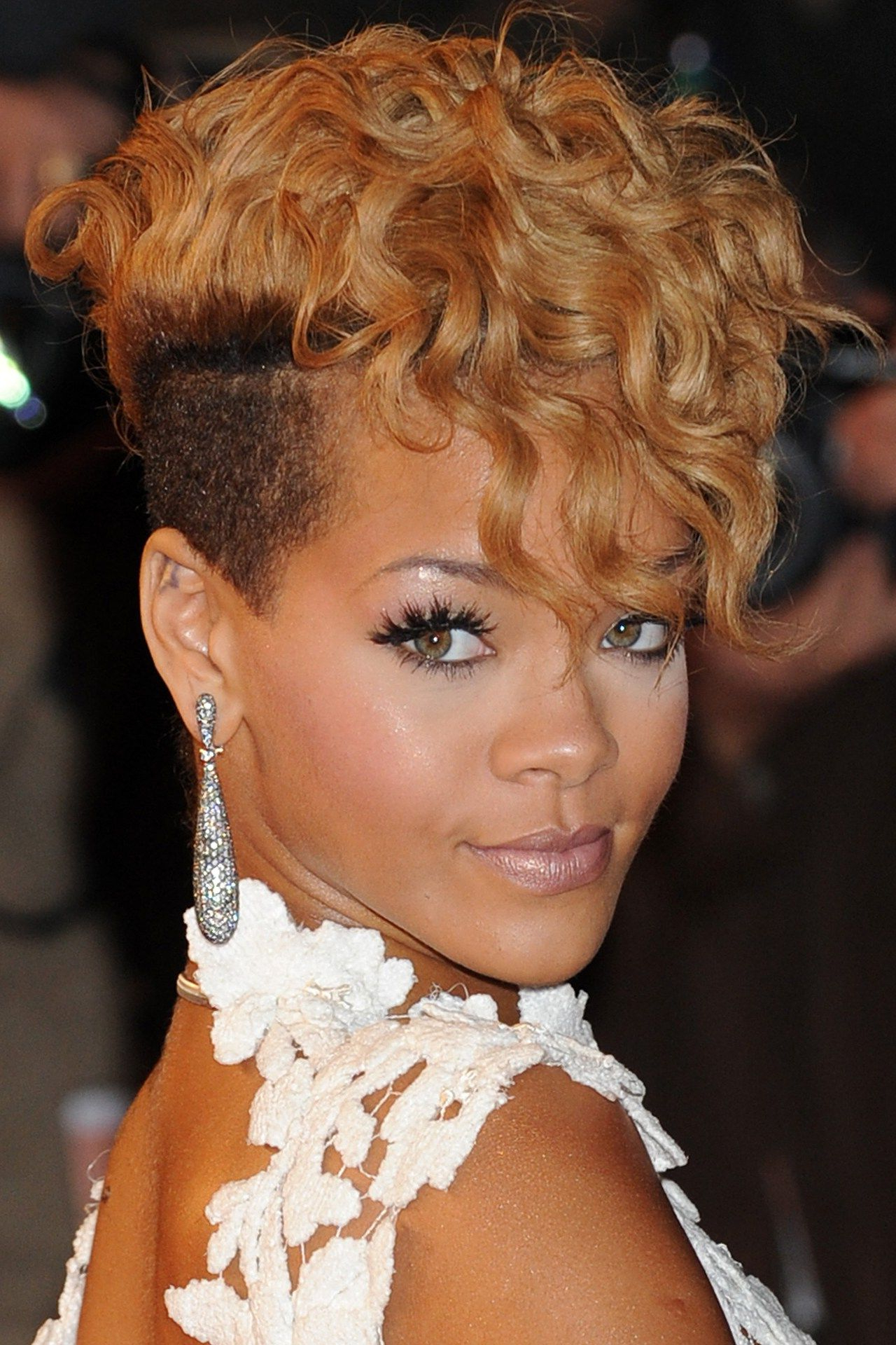 Rihanna Hairstyles & Hair Colour 2005 2013 Pictures (vogue Uk For Preferred Divine Mohawk Like Updo Hairstyles (Gallery 10 of 20)