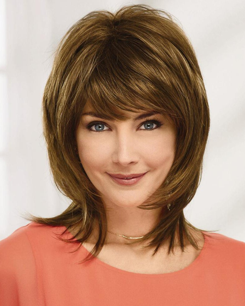 Sexy Shoulder Length Shag Wigs With Flicked Ends And A Bi Level Regarding Trendy Shoulder Length Haircuts With Flicked Ends (View 18 of 20)