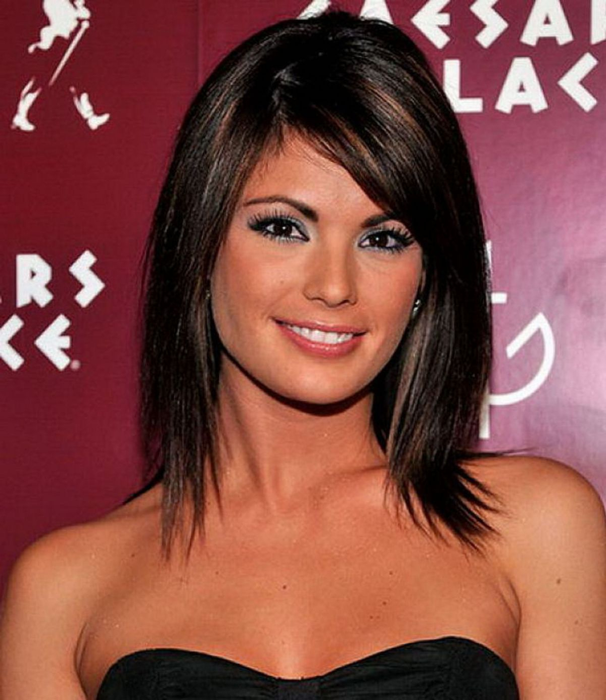 Shag Within Fashionable Layered Medium Haircuts With Side Bangs (Gallery 8 of 20)