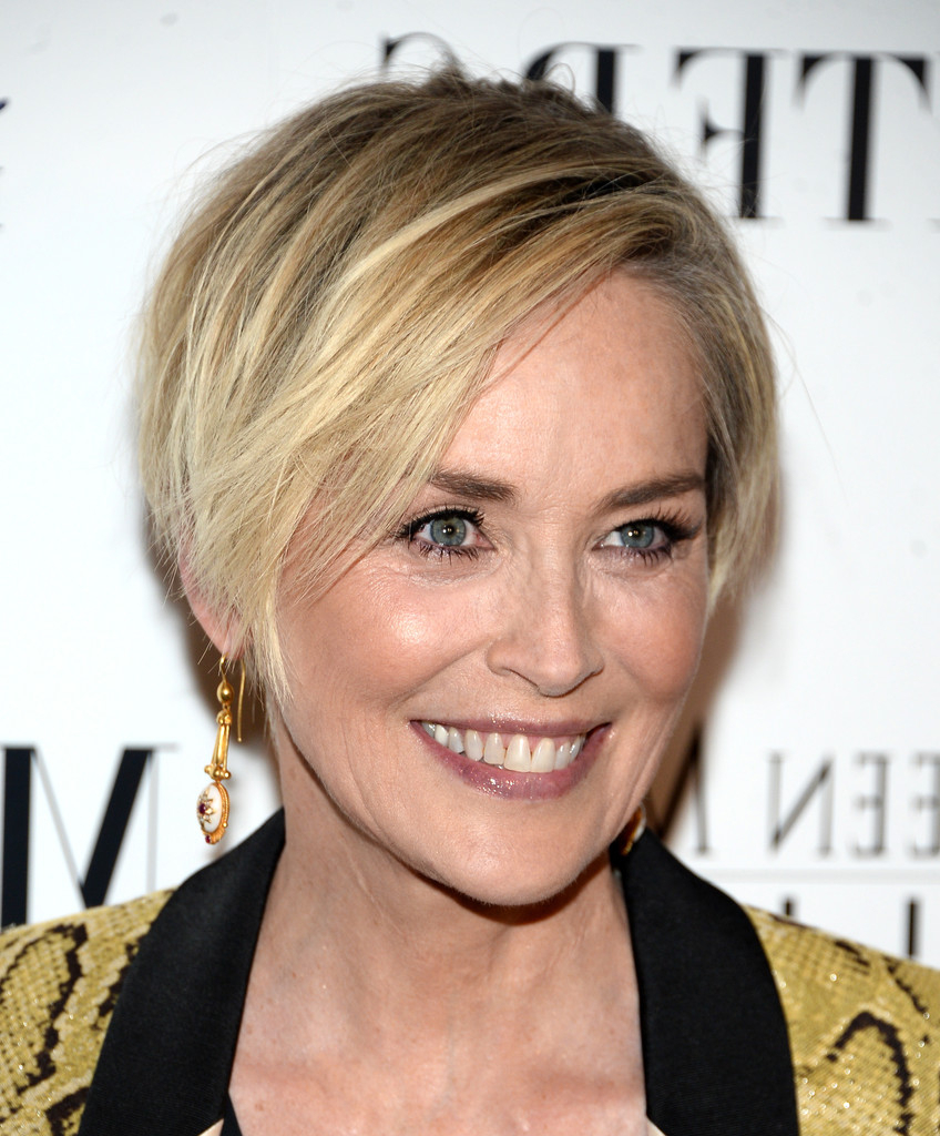 Sharon Stone Hair – Stylebistro Inside Fashionable Sharon Stone Medium Haircuts (View 15 of 20)