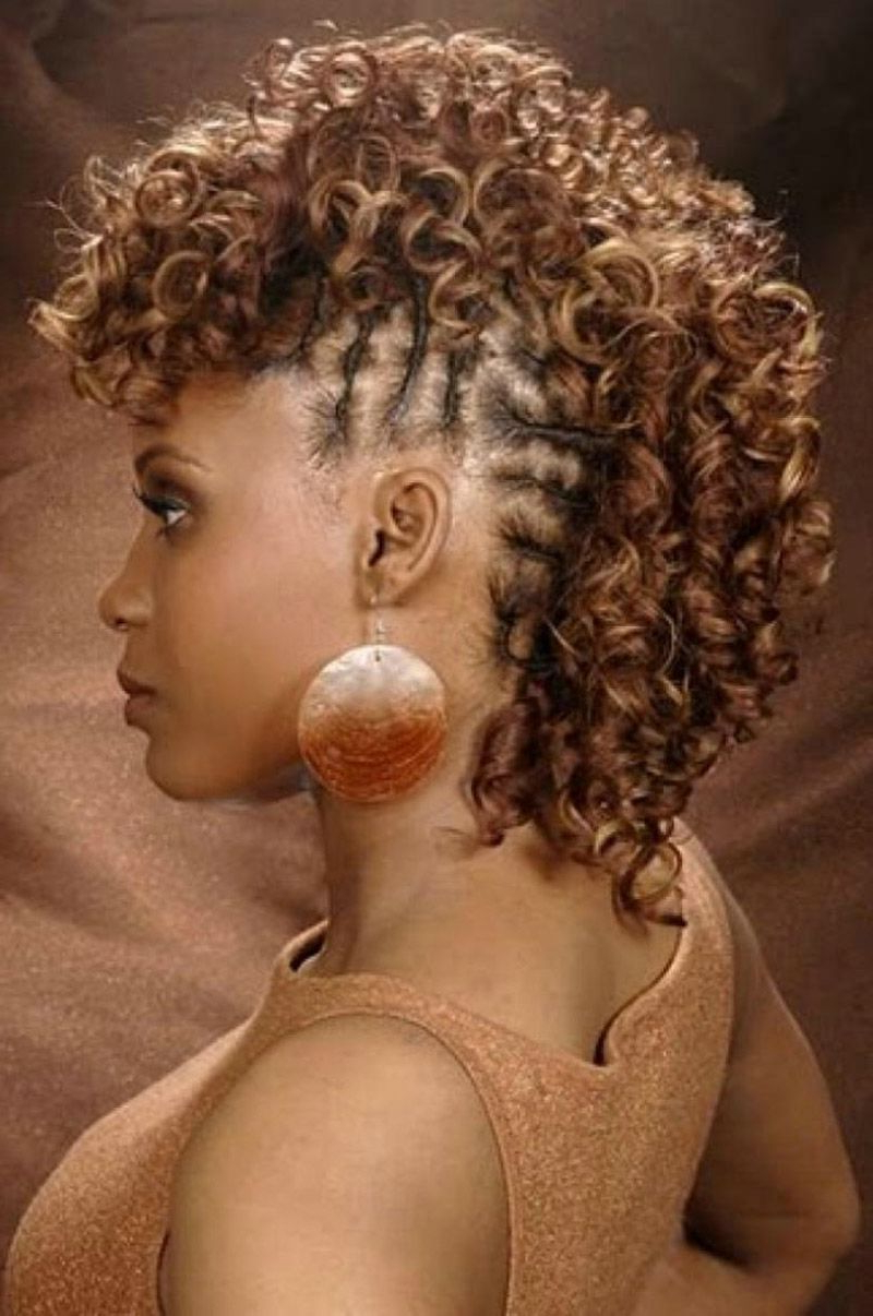 Short Curly Mohawk Hairstyles For Black Women (View 17 of 20)