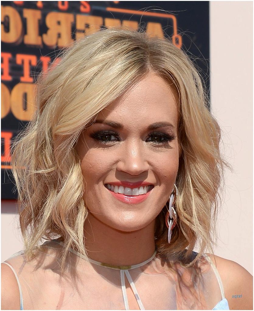 Short Hairstyles Idea Regarding Newest Carrie Underwood Medium Haircuts (Gallery 9 of 20)