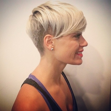 Short Hairstyles With Shaved Side (Gallery 20 of 20)